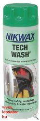 Nikwax Tech-Wash természetfotós ruházat tisztító és mosó folyadék.