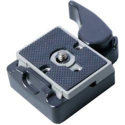 Fényképező gép állványra rögzíthető Manfrotto kompatibilis csere talp.